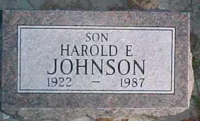 JOHNSON, HAROLD EMMETT - Dixon County, Nebraska | HAROLD EMMETT JOHNSON - Nebraska Gravestone Photos