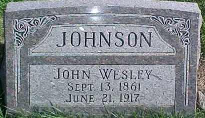 JOHNSON, JOHN WESLEY - Dixon County, Nebraska | JOHN WESLEY JOHNSON - Nebraska Gravestone Photos