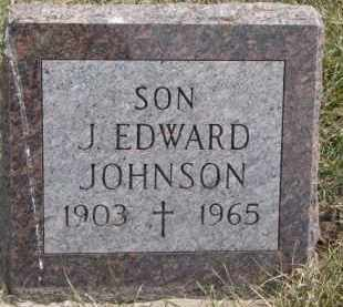 JOHNSON, J. EDWARD - Dixon County, Nebraska | J. EDWARD JOHNSON - Nebraska Gravestone Photos