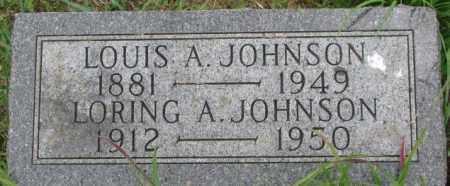 JOHNSON, LORING A. - Dixon County, Nebraska   LORING A. JOHNSON - Nebraska Gravestone Photos