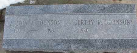 JOHNSON, MILTON A. - Dixon County, Nebraska | MILTON A. JOHNSON - Nebraska Gravestone Photos