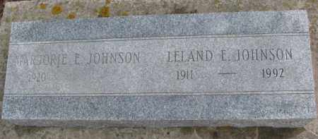 JOHNSON, LELAND E. - Dixon County, Nebraska | LELAND E. JOHNSON - Nebraska Gravestone Photos