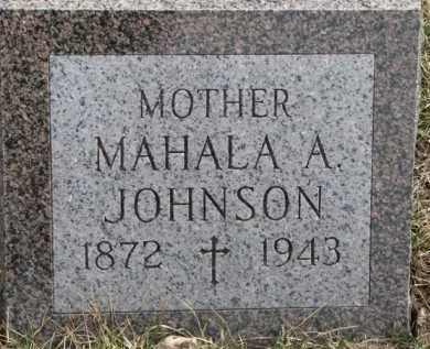 JOHNSON, MAHALA A. - Dixon County, Nebraska | MAHALA A. JOHNSON - Nebraska Gravestone Photos