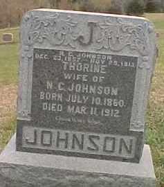 JOHNSON, THORINE - Dixon County, Nebraska   THORINE JOHNSON - Nebraska Gravestone Photos