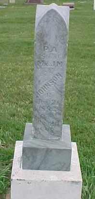 JOHNSON, P.A. - Dixon County, Nebraska | P.A. JOHNSON - Nebraska Gravestone Photos
