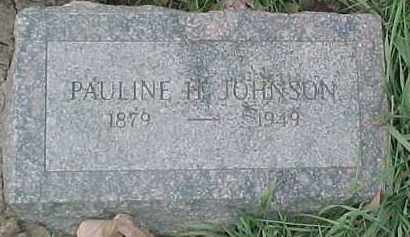 JOHNSON, PAULINE H. - Dixon County, Nebraska | PAULINE H. JOHNSON - Nebraska Gravestone Photos
