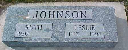 JOHNSON, LESLIE - Dixon County, Nebraska | LESLIE JOHNSON - Nebraska Gravestone Photos