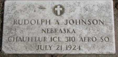 JOHNSON, RUDOLPH A. - Dixon County, Nebraska | RUDOLPH A. JOHNSON - Nebraska Gravestone Photos