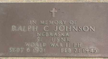 JOHNSON, RALPH C. (WW II MARKER) - Dixon County, Nebraska | RALPH C. (WW II MARKER) JOHNSON - Nebraska Gravestone Photos