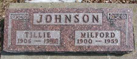JOHNSON, MILFORD - Dixon County, Nebraska | MILFORD JOHNSON - Nebraska Gravestone Photos
