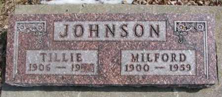 JOHNSON, TILLIE - Dixon County, Nebraska | TILLIE JOHNSON - Nebraska Gravestone Photos