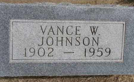 JOHNSON, VANCE W. - Dixon County, Nebraska   VANCE W. JOHNSON - Nebraska Gravestone Photos