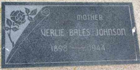 JOHNSON, VERLE - Dixon County, Nebraska | VERLE JOHNSON - Nebraska Gravestone Photos