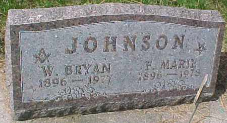 JOHNSON, W. BRYAN - Dixon County, Nebraska | W. BRYAN JOHNSON - Nebraska Gravestone Photos