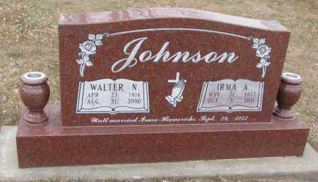 JOHNSON, WALTER N. - Dixon County, Nebraska | WALTER N. JOHNSON - Nebraska Gravestone Photos