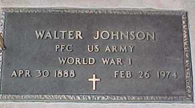 JOHNSON, WALTER (WW I MARKER) - Dixon County, Nebraska | WALTER (WW I MARKER) JOHNSON - Nebraska Gravestone Photos
