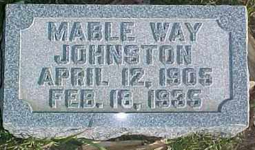 JOHNSTON, MABLE - Dixon County, Nebraska | MABLE JOHNSTON - Nebraska Gravestone Photos
