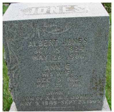 JONES, ALBERT - Dixon County, Nebraska   ALBERT JONES - Nebraska Gravestone Photos