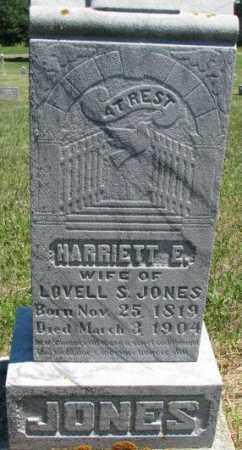JONES, HARRIETT E. - Dixon County, Nebraska | HARRIETT E. JONES - Nebraska Gravestone Photos