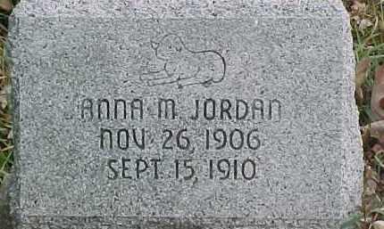 JORDAN, ANNA M. - Dixon County, Nebraska   ANNA M. JORDAN - Nebraska Gravestone Photos