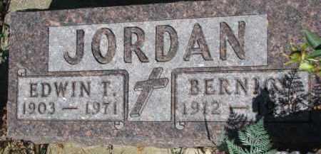 JORDAN, EDWIN T. - Dixon County, Nebraska | EDWIN T. JORDAN - Nebraska Gravestone Photos