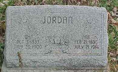 JORDAN, ANN - Dixon County, Nebraska | ANN JORDAN - Nebraska Gravestone Photos