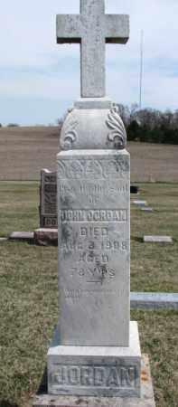 JORDAN, JOHN - Dixon County, Nebraska   JOHN JORDAN - Nebraska Gravestone Photos