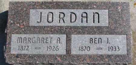 JORDAN, MARGARET A. - Dixon County, Nebraska | MARGARET A. JORDAN - Nebraska Gravestone Photos