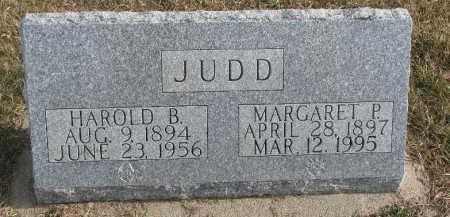 JUDD, HAROLD B. - Dixon County, Nebraska   HAROLD B. JUDD - Nebraska Gravestone Photos