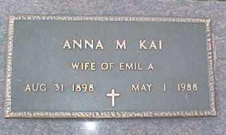 KAI, ANNA M. - Dixon County, Nebraska | ANNA M. KAI - Nebraska Gravestone Photos