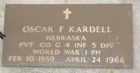 KARDELL, OSCAR F. (WW I MARKER) - Dixon County, Nebraska | OSCAR F. (WW I MARKER) KARDELL - Nebraska Gravestone Photos