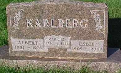 KARLBERG, ALBERT E. - Dixon County, Nebraska | ALBERT E. KARLBERG - Nebraska Gravestone Photos