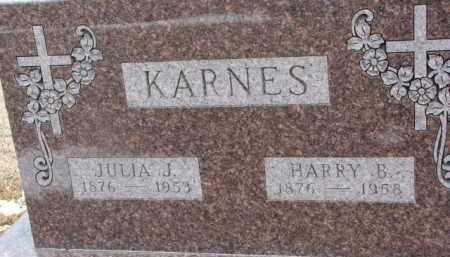 KARNES, HARRY B. - Dixon County, Nebraska | HARRY B. KARNES - Nebraska Gravestone Photos