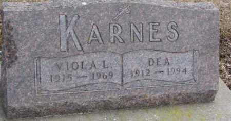 KARNES, VIOLA L. - Dixon County, Nebraska | VIOLA L. KARNES - Nebraska Gravestone Photos