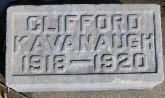 KAVANAUGH, CLIFFORD - Dixon County, Nebraska | CLIFFORD KAVANAUGH - Nebraska Gravestone Photos