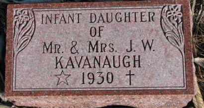 KAVANAUGH, INFANT OF J.W. - Dixon County, Nebraska | INFANT OF J.W. KAVANAUGH - Nebraska Gravestone Photos