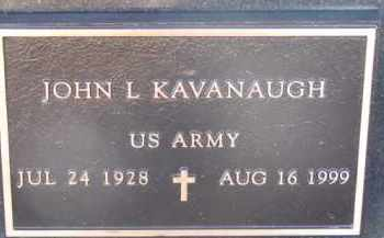 KAVANAUGH, JOHN L. (MILITARY MARKER) - Dixon County, Nebraska | JOHN L. (MILITARY MARKER) KAVANAUGH - Nebraska Gravestone Photos