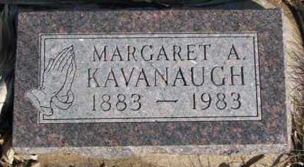 KAVANAUGH, MARGARET A. - Dixon County, Nebraska | MARGARET A. KAVANAUGH - Nebraska Gravestone Photos