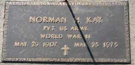 KAY, NORMAN H. (WW II MARKER) - Dixon County, Nebraska | NORMAN H. (WW II MARKER) KAY - Nebraska Gravestone Photos