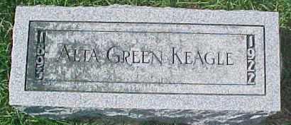 GREEN KEAGLE, ALTA - Dixon County, Nebraska | ALTA GREEN KEAGLE - Nebraska Gravestone Photos