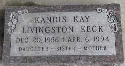 LIVINGSTON KECK, KANDIS KAY - Dixon County, Nebraska | KANDIS KAY LIVINGSTON KECK - Nebraska Gravestone Photos