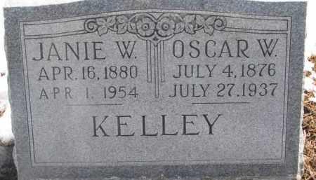KELLEY, JANIE W. - Dixon County, Nebraska | JANIE W. KELLEY - Nebraska Gravestone Photos