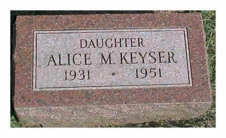 KEYSER, ALICE M - Dixon County, Nebraska | ALICE M KEYSER - Nebraska Gravestone Photos