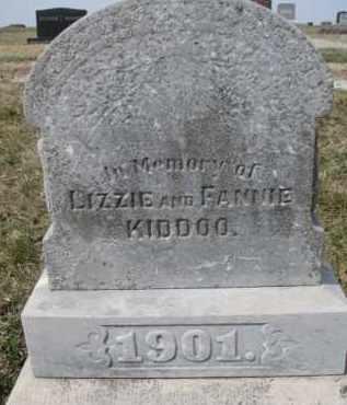 KIDDOO, LIZZIE - Dixon County, Nebraska   LIZZIE KIDDOO - Nebraska Gravestone Photos