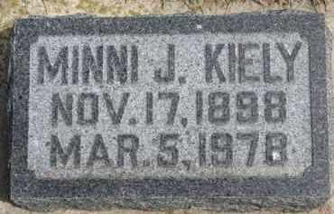 KIELY, MINNI J. - Dixon County, Nebraska   MINNI J. KIELY - Nebraska Gravestone Photos