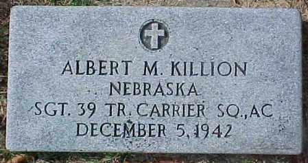 KILLION, ALBERT M.  (MILITARY MARKER) - Dixon County, Nebraska | ALBERT M.  (MILITARY MARKER) KILLION - Nebraska Gravestone Photos