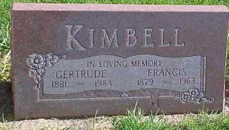 KIMBELL, FRANCIS FRANK - Dixon County, Nebraska   FRANCIS FRANK KIMBELL - Nebraska Gravestone Photos