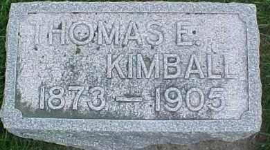 KIMBALL, THOMAS E. - Dixon County, Nebraska   THOMAS E. KIMBALL - Nebraska Gravestone Photos