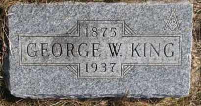KING, GEORGE W. - Dixon County, Nebraska | GEORGE W. KING - Nebraska Gravestone Photos