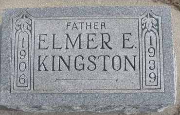 KINGSTON, ELMER E. - Dixon County, Nebraska | ELMER E. KINGSTON - Nebraska Gravestone Photos